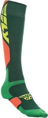 Fly Racing Mx Pro Sock Thick Green/orange S/m 350-0405S