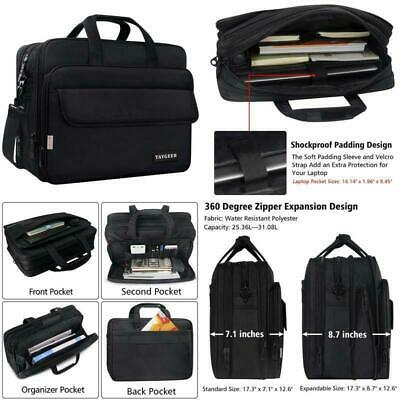 17 Inch Laptop Bag, Large Briefcase For Men Women, Expandable Business Attache,