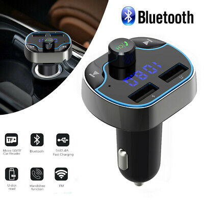 Wireless Bluetooth Car FM Transmitter Radio Adapter USB Charger Mp3 Player LCD
