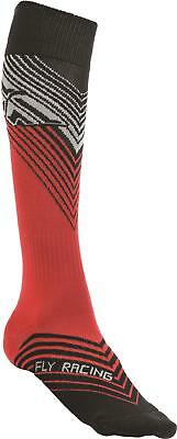 Fly Racing Mx Sock Thin Red/black L/x 350-0432L