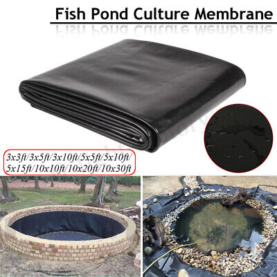 HDPE Durable Bâche Pr Bassin Étang Jardin Film Aquarium Fish Pond Liner