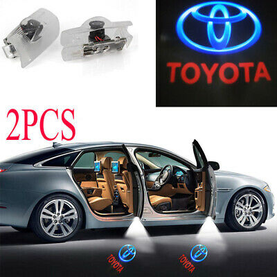 2x LED Door Step Welcome Courtesy Projector Laser Ghost Shadow Light For Toyota