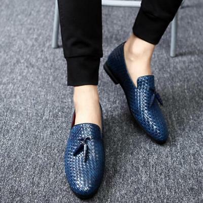 1ccba1c01c9 Plus Size Mens Weave Tassel Slip on Loafers Casual Smart Driving Party Shoes  OO