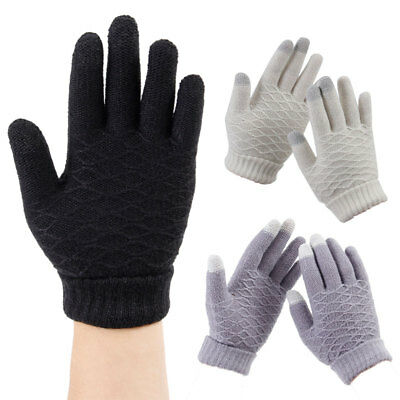 Mens Women Thermal Insulation Touch Screen Winter Warm Gloves For Smartphone ww