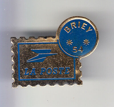 Rare Pins Pin's .. Ptt La Poste Timbre Stamp Briey 54 ~Bq