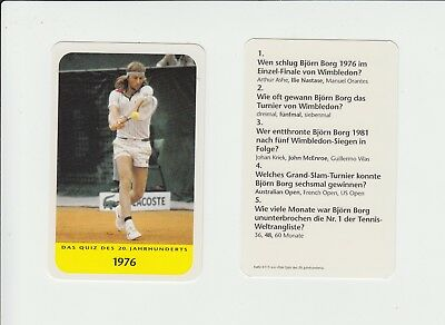 Tennis : Bjorn Borg : attractive German collectable game card