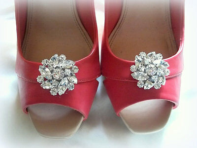 Wedding Shoe Clips, Rhinestone Shoe Clips, Shoe Clips for Bridal Shoes, New