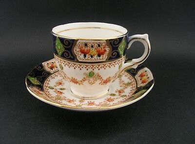 SALISBURY MONA Vintage English Fine Bone China Demitasse Tea Cup & Saucer c1940s