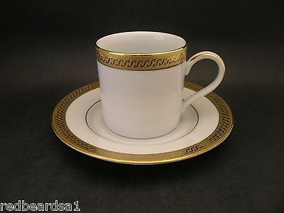 ASHFORD Vintage Fine Gold White PORCELAIN COFFEE CAN CUP SAUCER 9303 Laklain