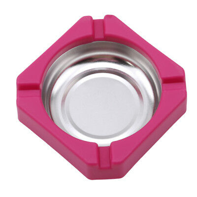 Stainless Steel Rose Red Square Ashtray Internet Cafe Flame Retardant Ashtray BS
