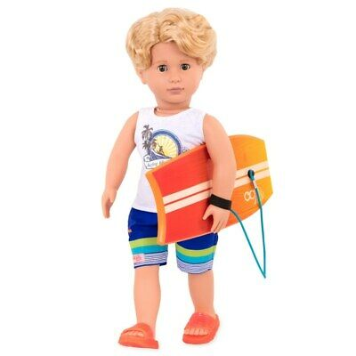 Our Generation Doll Boy Gabe Surfer With Boogie Board NEW