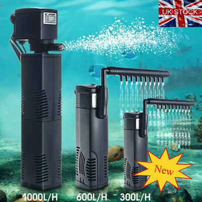 Fish Tank Aquarium Filter Submersible For Internal Aquarium Spray Bar Included