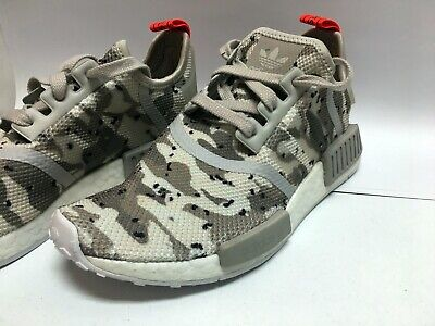 Details about Adidas NMD_R1 Runner W Nomad Women's Chalk White Camo Pack Solar Red G27932