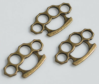 Silver & Brass Knuckle Duster Pendant [For Chain/Necklace/Bracelet]
