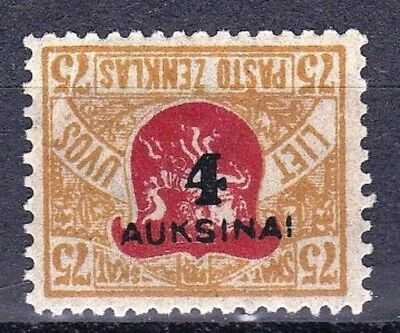 LITHUANIA - SCOTT 114a - RARE INVERT SURCHARGE - LOOK!