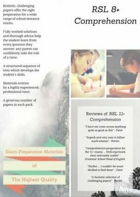 RSL 8+ Comprehension: Practice Papers with Detailed Answers & E... 978099346