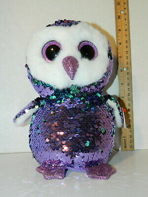 ff65ef43b0b NWT Ty FLIPPABLES Moonlight the Owl Sequins Med 10