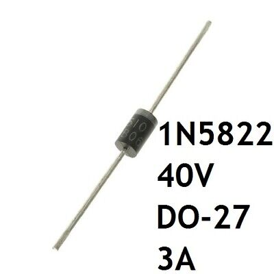 Lot de Diodes 1N5822 de Commutation DO27 3A 40V THT Semi Conducteur Rapide A