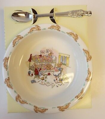 ROYAL DOULTON Bunnykins Child's CEREAL BOWL & SPOON Peter Rabbit Easter NEW