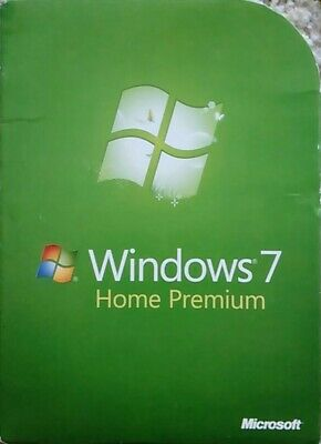 Windows 7 Home Premium 64 bit Edition Full Version w/SP1 DVD License Certificate