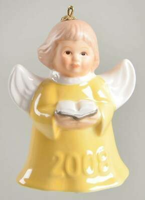 Goebel ANGEL BELL ORNAMENT Yellow Angel Song Book 2008