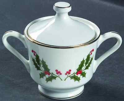 All The Trimmings CHRISTMAS HOLLY (PORCELAIN) Sugar Bowl 6188610