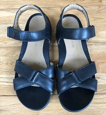a18bfe4ae51 Clarks Artisan Unstructured Womens Black Learher Double Strap Sandals Size  8.5M
