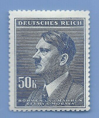 Nazi Germany Third Reich Nazi B&M Adolf Hitler 50k stamp MNH WW2 ERA