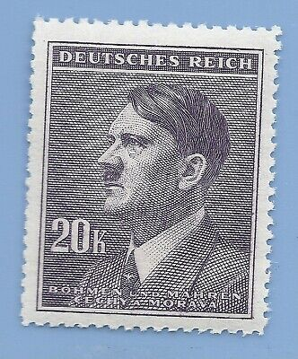 Nazi Germany Third Reich Nazi B&M Adolf Hitler 20k stamp MNH WW2 ERA