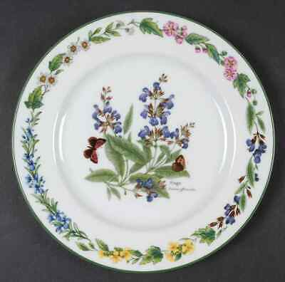 Royal Worcester WORCESTER HERBS (GREEN TRIM) Sage Salad Plate 641023