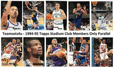 663ea9d0a999 1994-95 Topps Stadium Club Members Only Basketball Set    Pick Your Team