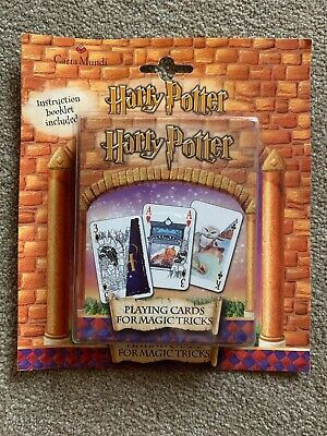 Harry potter Playing Cards For Magic Tricks New Sealed 2001