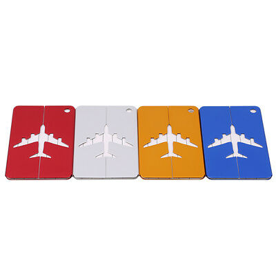 Travel Aluminium Plane Luggage Suitcase Label Name Address ID Baggage Tag BS
