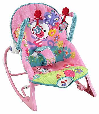Fisher Price Infant to Toddler Rocker Pink Imported Calming Vibrations Clackers