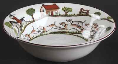 Crown Staffordshire HUNTING SCENE Cereal Bowl 95136