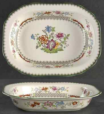 """Spode CHINESE ROSE 9 1/8"""" Oval Vegetable Bowl 1204502"""