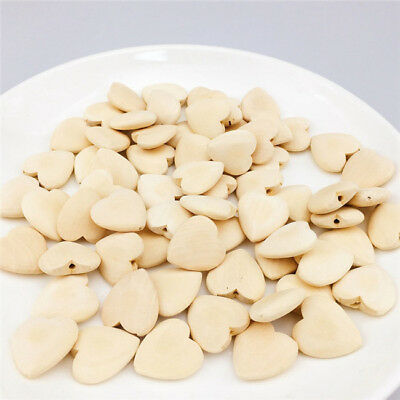 Wooden Beads Heart-shape Natural color DIY decoration Jewelry Accessories BS