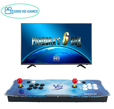 Pandora's Box 6S plus 2 Players Joystick Arcade Console with 1388 HD Retro Games