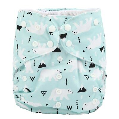 2 to 7 years old BIG Cloth Diaper Nappy Pocket Reusable Junior Polar Bear