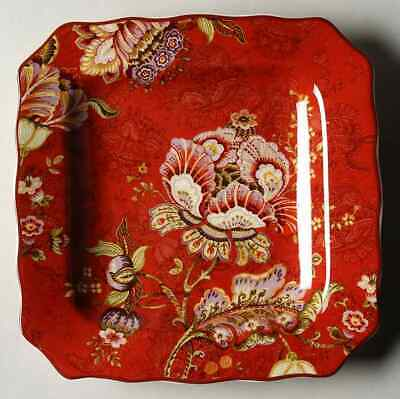 222 Fifth GABRIELLE Red Square Salad Plate 8784839