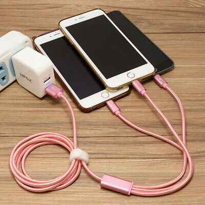 3 in 1 Nylon Type C/Micro USB/iPhone Multiple Fast Charger Cable Cord  Universal