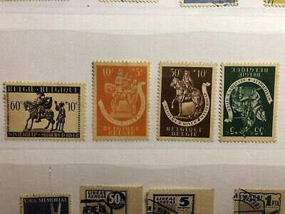 Early year Belgium Stamps Whole set (MNH)