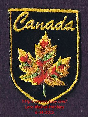 Lmh Patch Badge Canada Erable Feuille Logo Rouge Jaune Automne Couleur Canadien