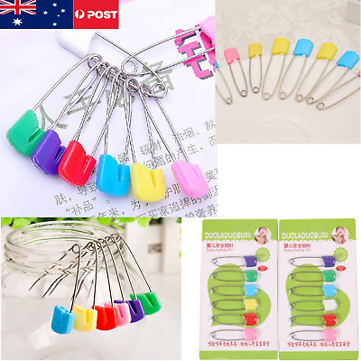 6PCS Hot Large Nappy Pins Terry Nappies Safety Pin Baby Diaper Change Fasteners