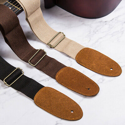 Guitar Strap with Suede Leather Ends for Electric Guitar, Acoustic Guitar