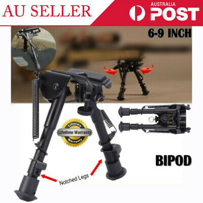 """AU Adjustable Legs 6"""" to 9"""" Height Sniper Hunting Rifle Bipod Harris Style Mount"""