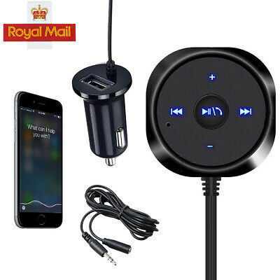 Wireless 3.5mm Bluetooth Audio Stereo Music Receiver Car AUX Adapter USB Charger