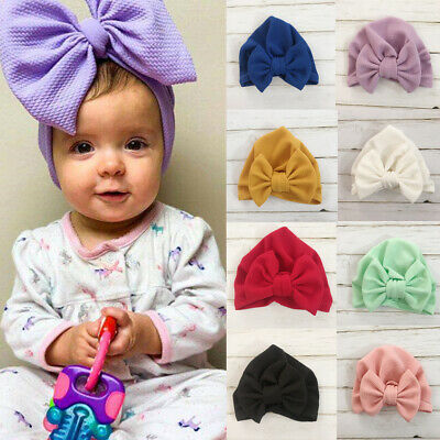 18167747d82 USA Newborn Baby Infant Girl Toddler Comfy Bowknot Hospital Caps Warm  Beanie Hat