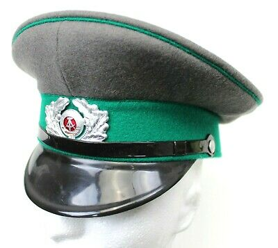 dba2a83f2c5dc GENUINE NVA DDR EAST GERMAN ARMY OFFICERS PEAKED CAP   BADGE (SIZE ...