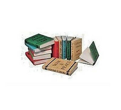 Dolls House Miniatures:  Set 12 Books with Titles : in 12th scale